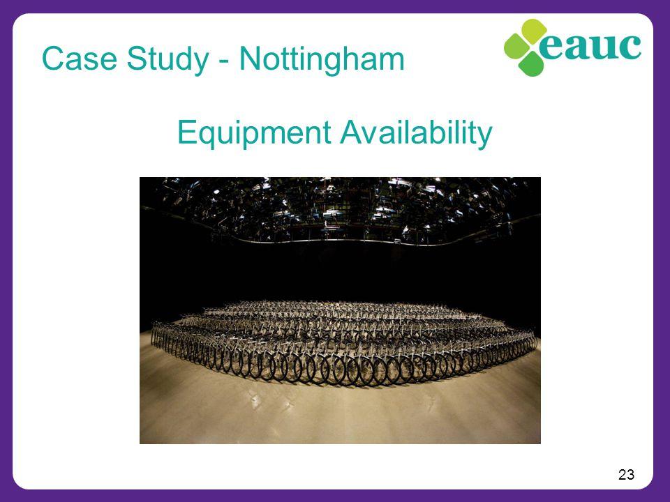 23 Equipment Availability Case Study - Nottingham