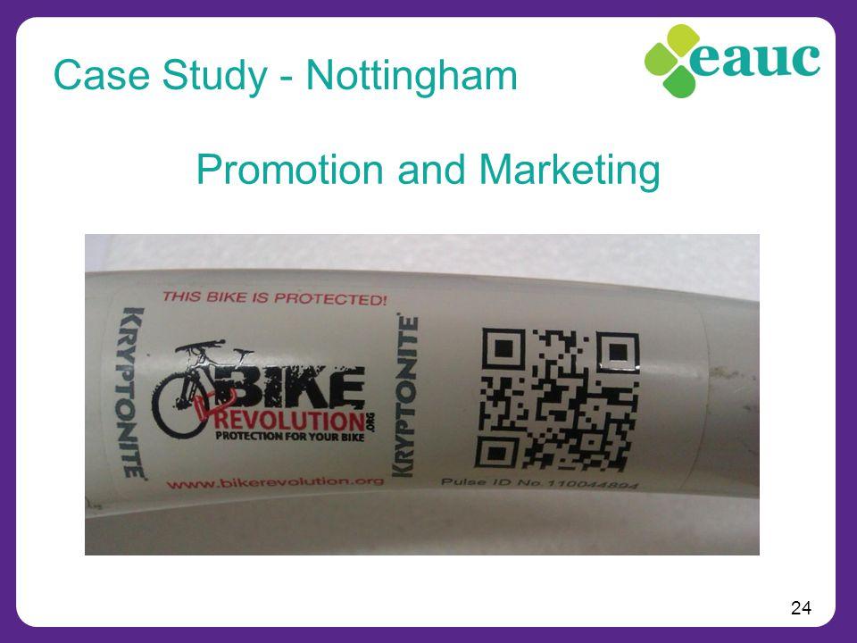 24 Promotion and Marketing Case Study - Nottingham