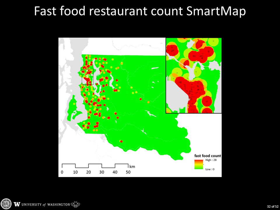 Fast food restaurant count SmartMap 32 of 52