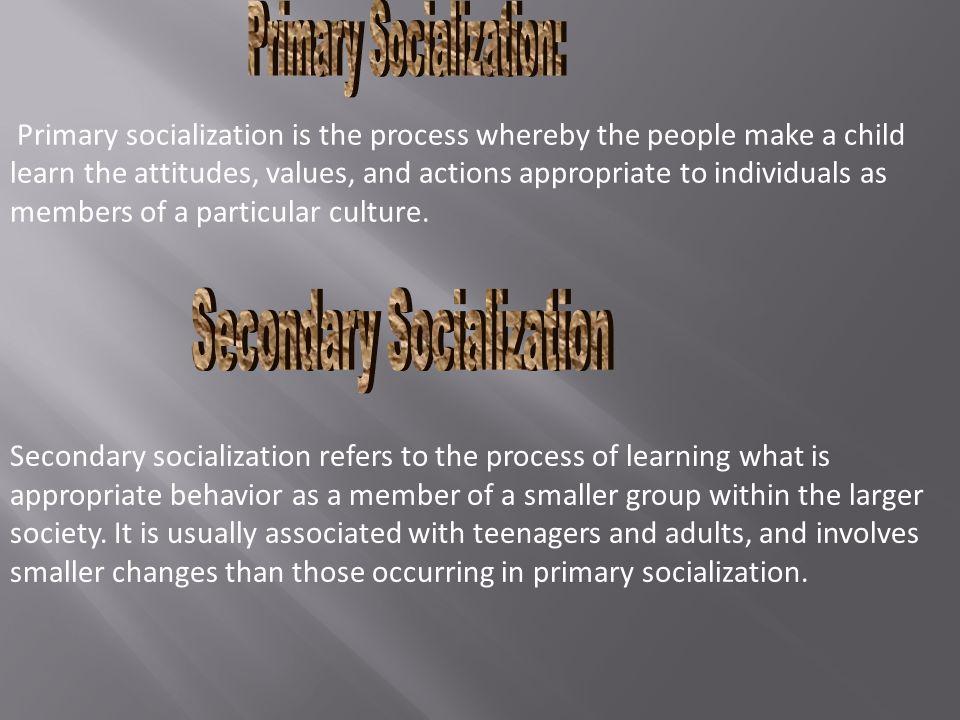 Reverse Socialization Developmental Socialization Primary Socialization Secondary Socialization Anticipatory Socialization Resocialization