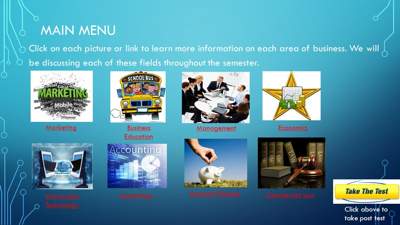 INTRODUCTION TO BUSINESS: EIGHT AREAS OF BUSINESS MR.