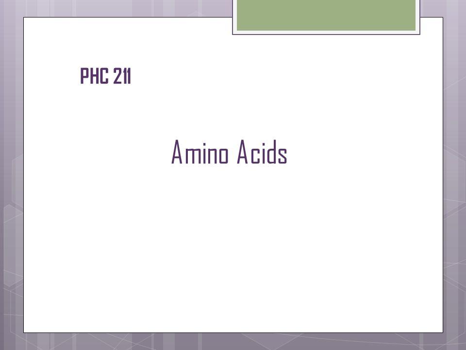 Amino Acids PHC 211