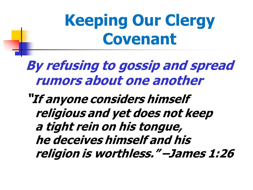 Keeping Our Clergy Covenant By paving the way for our successors and affirming our predecessors I planted the seed, Apollos watered it, but it is God who gives the growth.