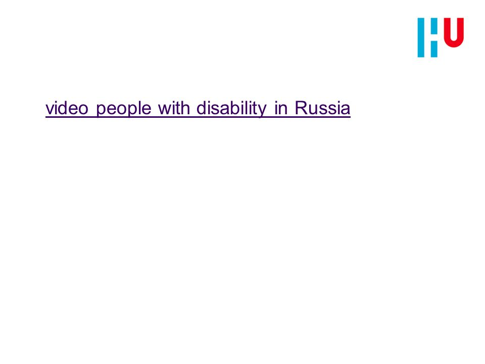 video people with disability in Russia