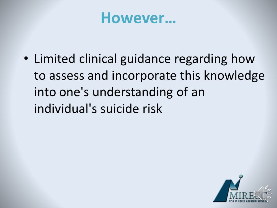 A Number of Experts Encourage Assessment of Executive Functioning Finally, the American Association of Suicidology (AAS) refers to various warning sig