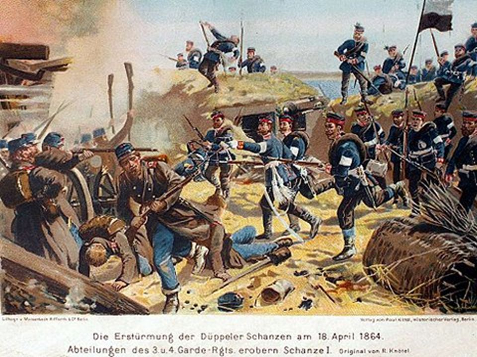 1866 War of Prussia against Austria, Hannover, Sachsen, and the German Southerns The Austrian had a fatal defeat at Königgrätz