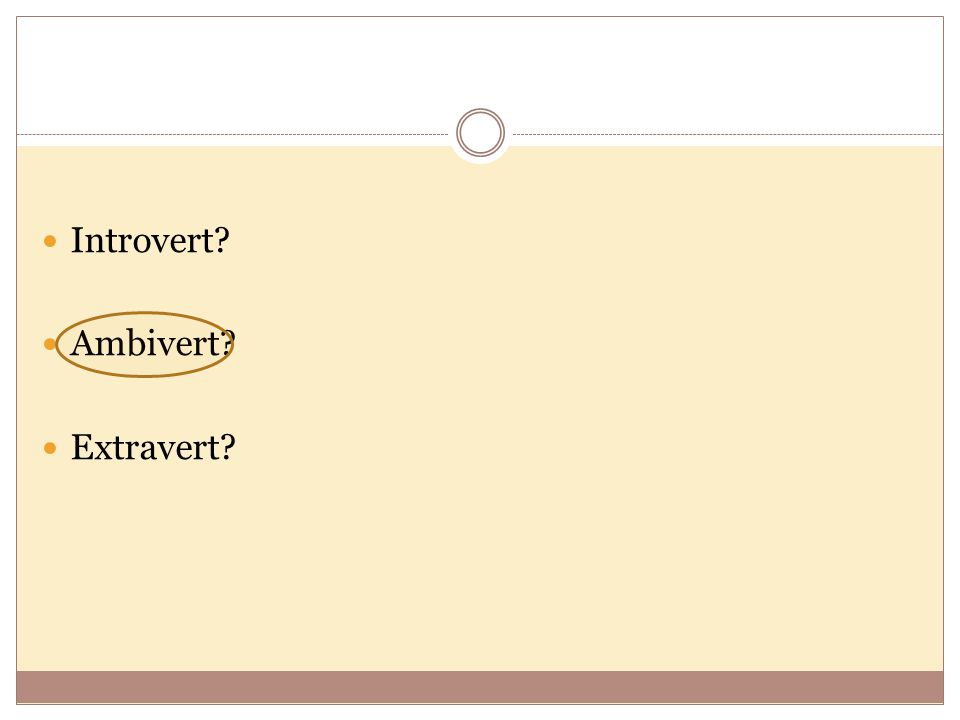 Preserver? Moderate? Explorer?