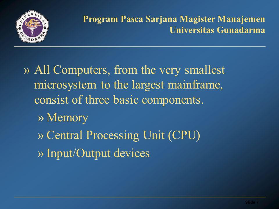 Slide 27 Program Pasca Sarjana Magister Manajemen Universitas Gunadarma Image Processing Application: Matlab Khoros Image Pro Plus Halcon Ad Oculos Mega Wave Vista