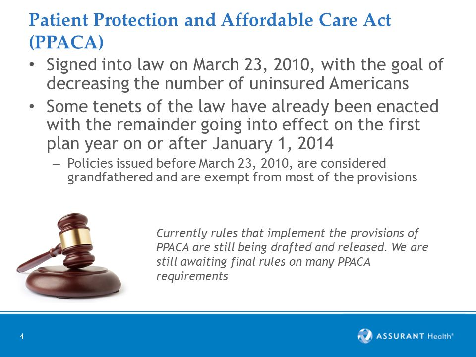 5 PPACA benefit changes – already implemented Unlimited lifetime maximum Dependents covered up to age 26 – Regardless of school enrollment Women's health coverage Preventive services Medical loss ratio (MLR) – Insurers must spend at least 80% of premium on claims and improving health care quality and if not they have to return the difference to the employers in the form of a rebate