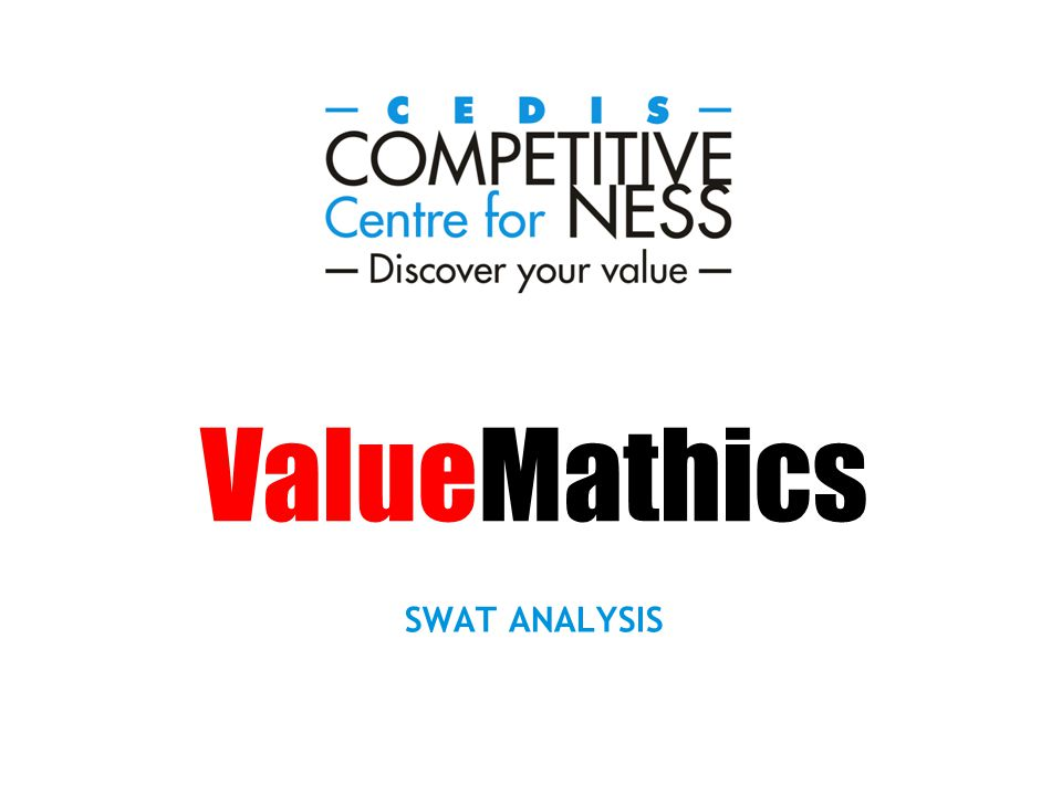 The SWAT analysis is a new generation balanced scorecard that uses elements of The Magic Pallet to analyse the potential of a firm or a sector in a given market segment.
