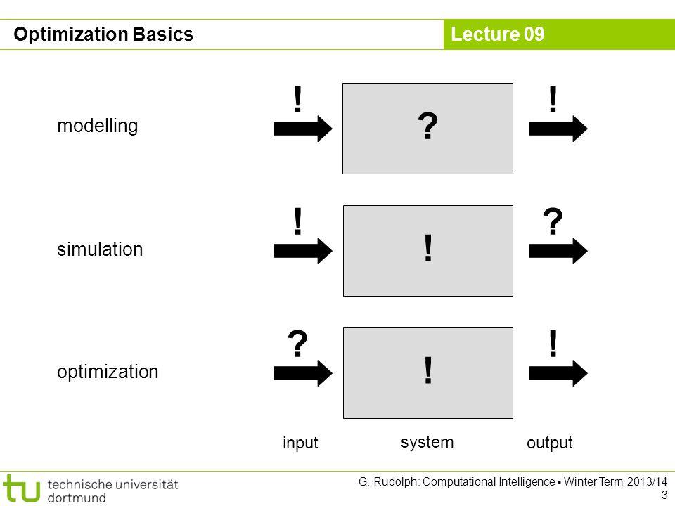 Lecture 09 G. Rudolph: Computational Intelligence ▪ Winter Term 2013/14 3 Optimization Basics .