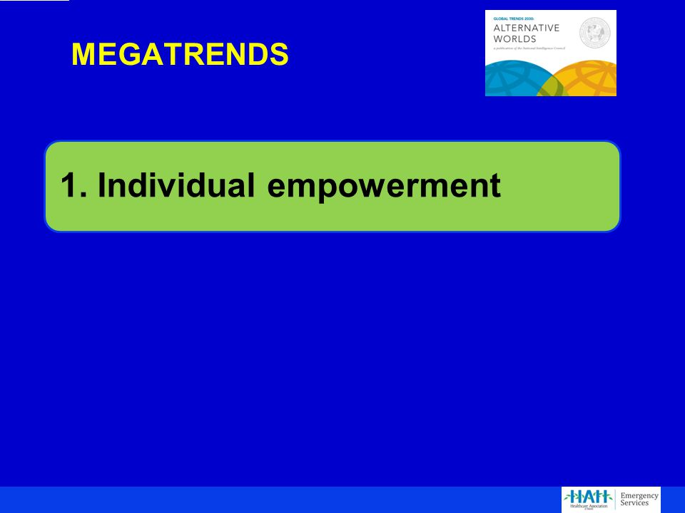 1. Individual empowerment MEGATRENDS