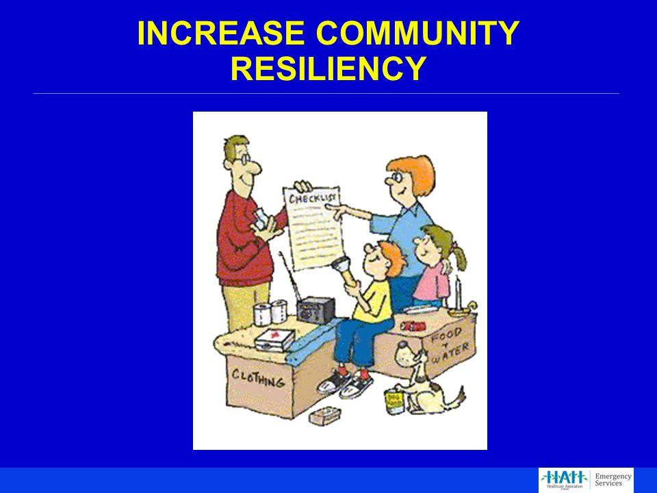 INCREASE COMMUNITY RESILIENCY