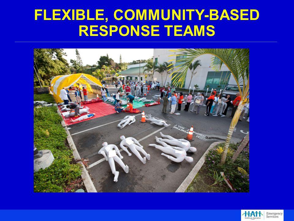 FLEXIBLE, COMMUNITY-BASED RESPONSE TEAMS