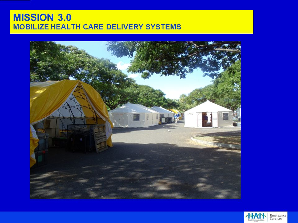 MISSION 3.0 MOBILIZE HEALTH CARE DELIVERY SYSTEMS