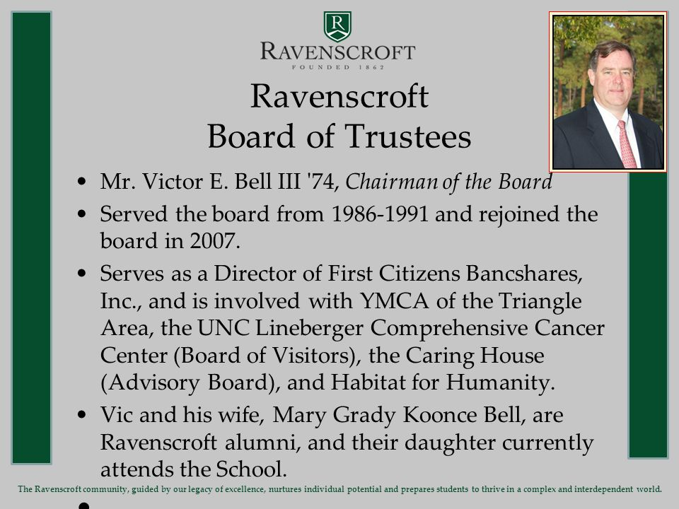 Ravenscroft Head of School Doreen C.Kelly Head of School since July 2003.