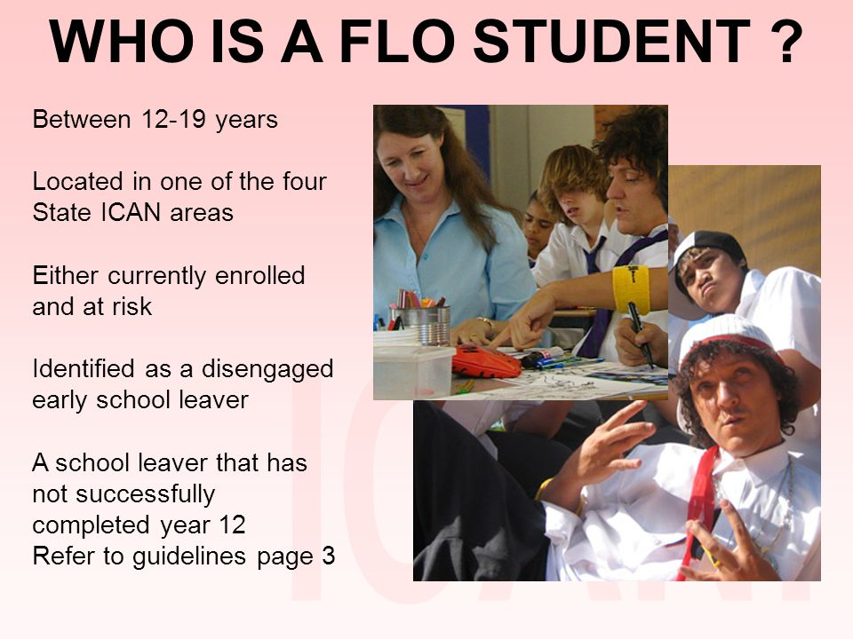 WHO IS A FLO STUDENT .