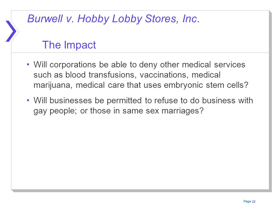 Page Burwell v. Hobby Lobby Stores, Inc.