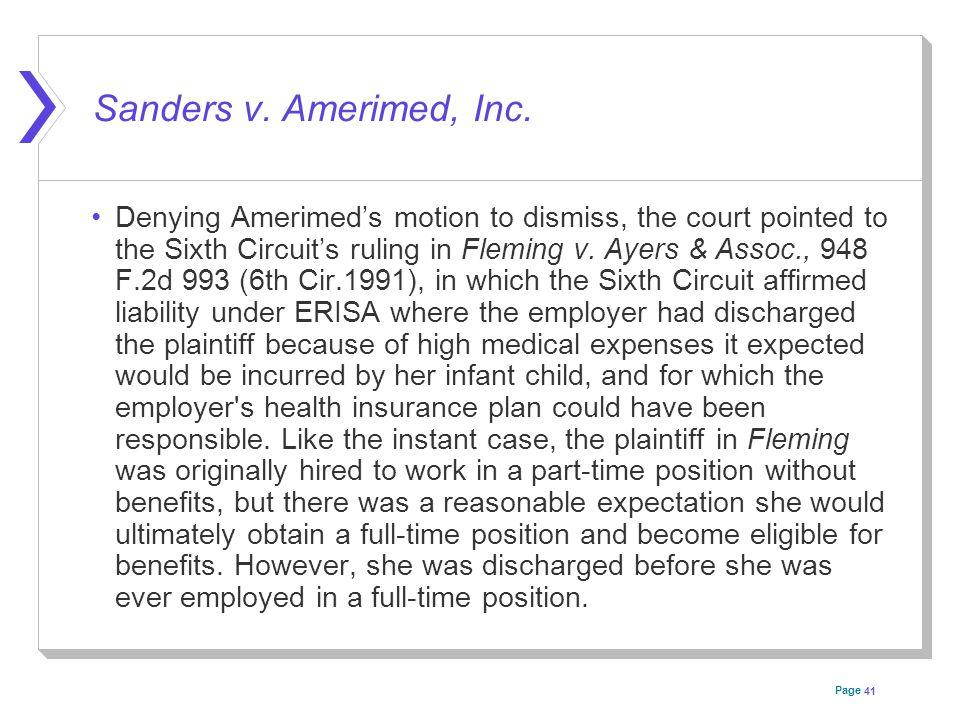 Page Sanders v. Amerimed, Inc.