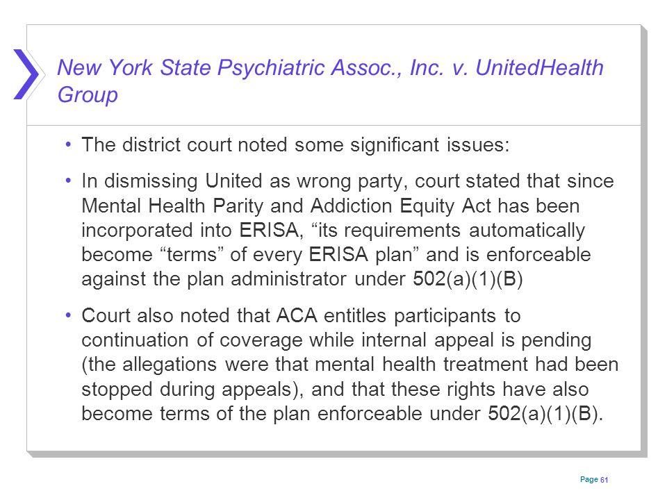 Page New York State Psychiatric Assoc., Inc. v.