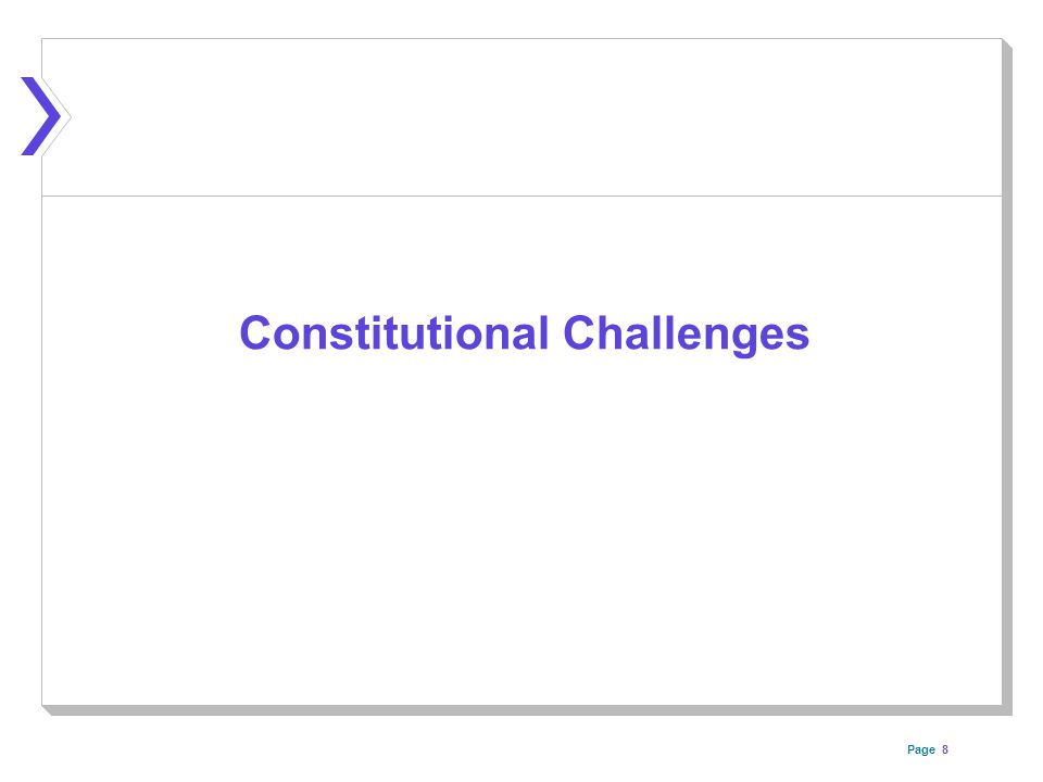 Page Constitutional Challenges 8