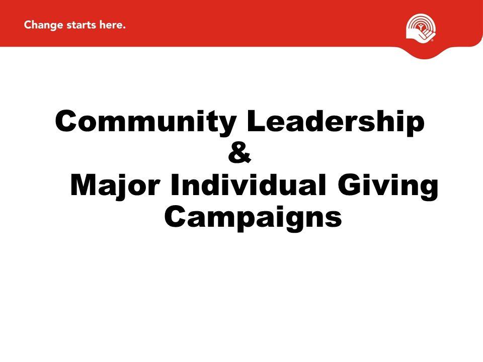 Community Leadership & Major Individual Giving Campaigns