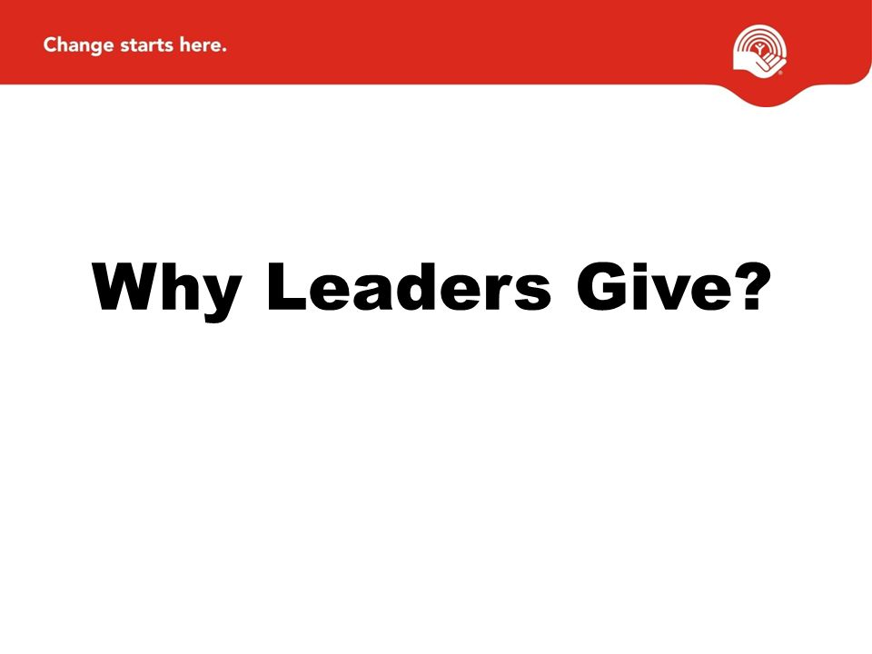 Why Leaders Give