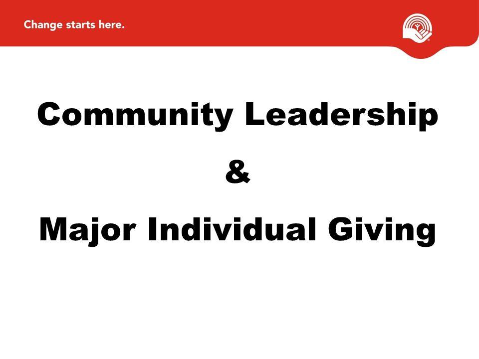 Community Leadership & Major Individual Giving
