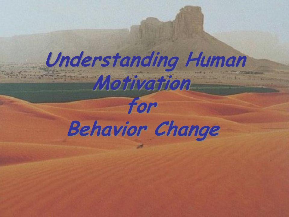 Understanding Human Motivation for Behavior Change