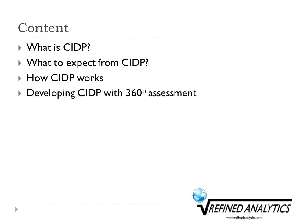 Content  What is CIDP.  What to expect from CIDP.