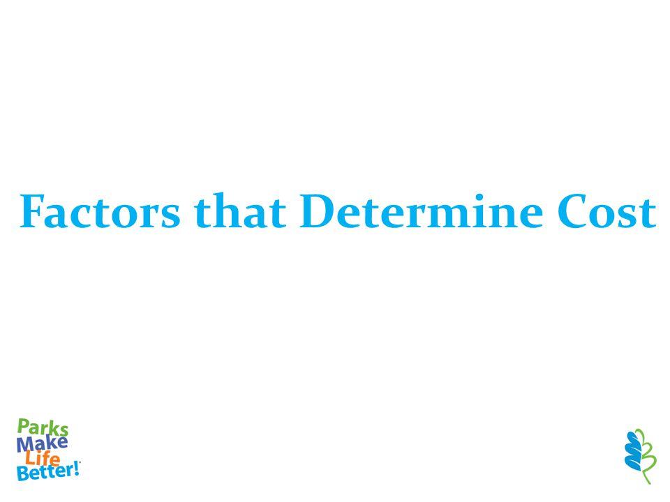 Factors that Determine Cost