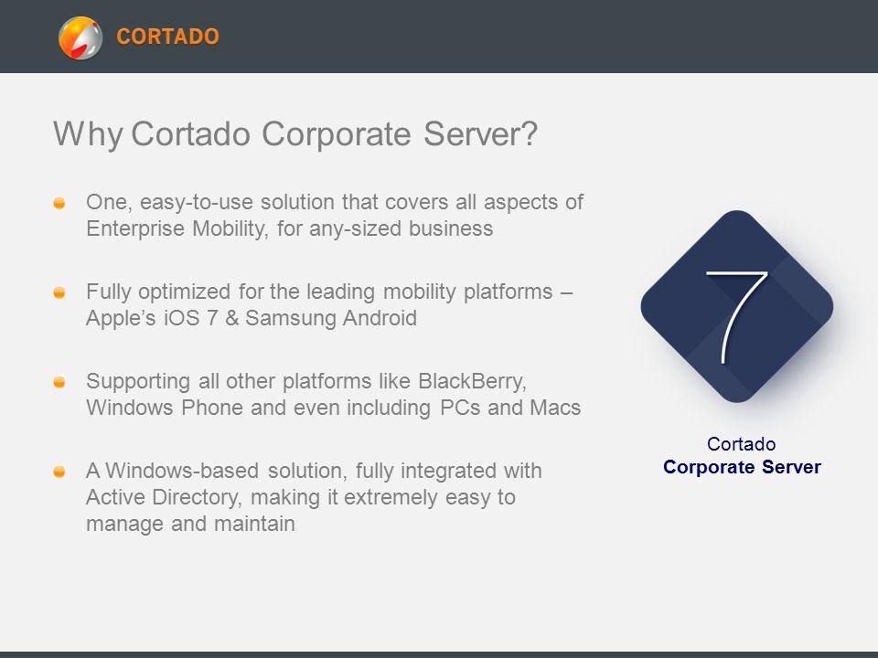 Why Cortado Corporate Server.