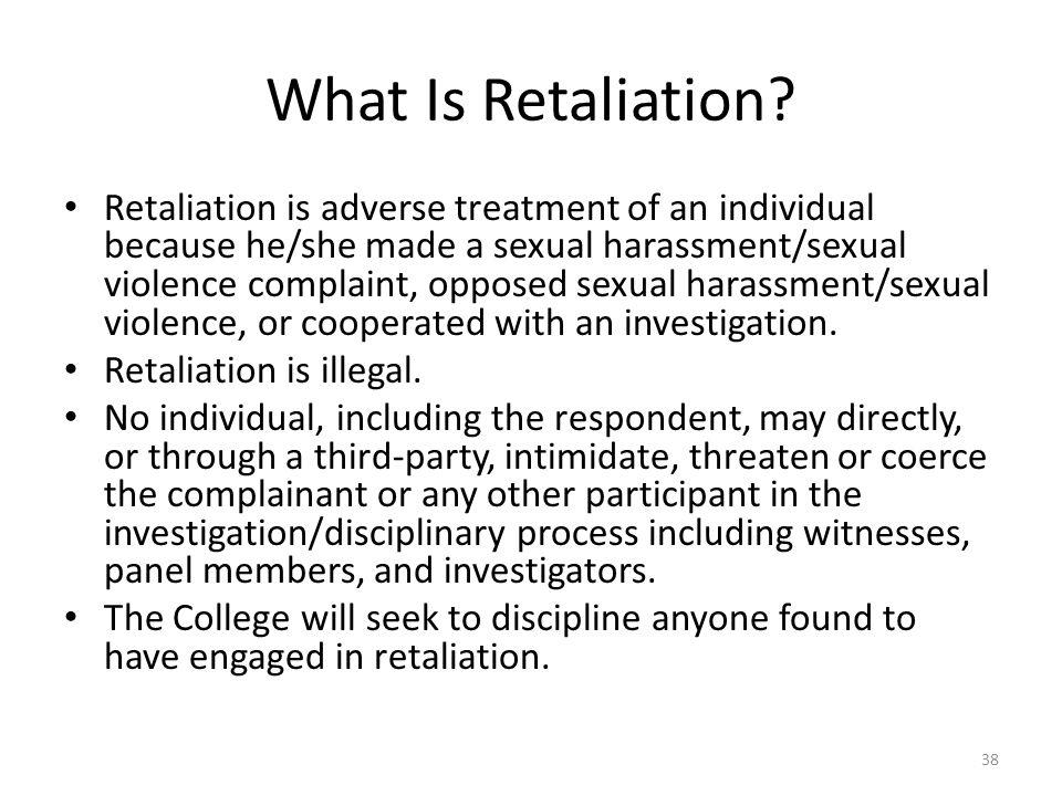 What Is Retaliation.