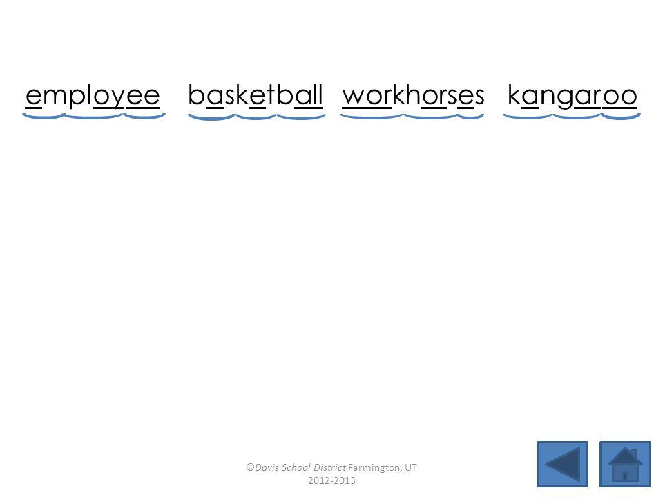 employ ee basketballworkhorseskangar oo worsenpitfallannoyspooky loyalworldwidesnowballmaroon ©Davis School District Farmington, UT 2012-2013