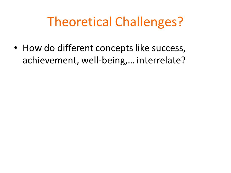 Theoretical Challenges.