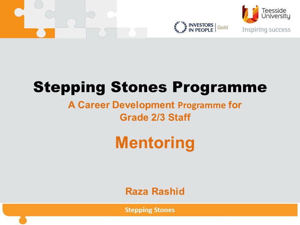 Stepping StonesStepping Stones Programme Stepping Stones Stepping Stones Programme A Career Development Programme for Grade 2/3 Staff Mentoring Raza Rashid