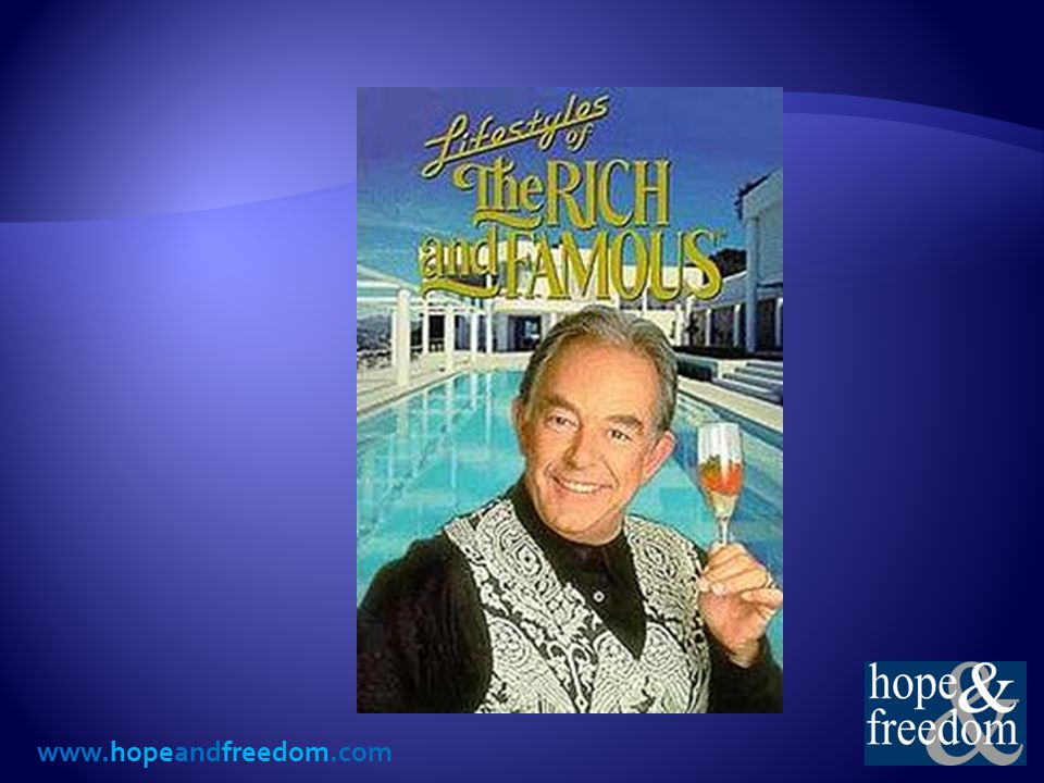  March 31, 1984 to September 2, 1995  Produced and hosted by Robin Leach  Featured the extravagant lifestyles of wealthy entertainer, athletes and business moguls.
