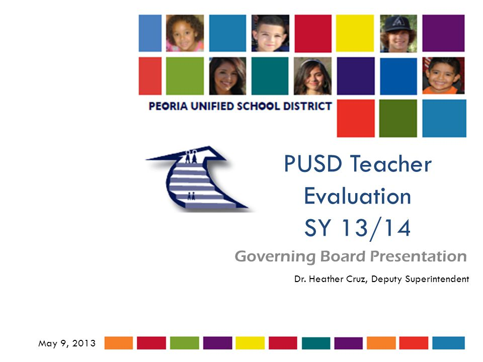 PUSD Teacher Evaluation SY 13/14 Governing Board Presentation May 9, 2013 Dr.