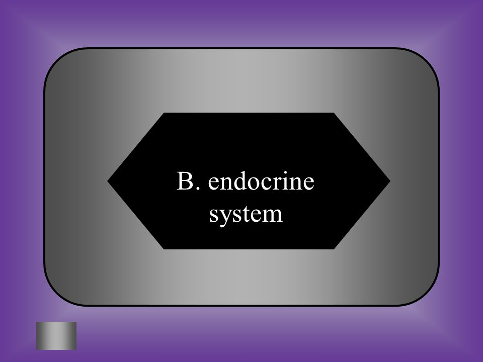 A:B: endocrine system C:D: respiratory systemlymphatic system nervous system #9 This systems sends out messages to tissue by way of glands and hormones to control all body functions.