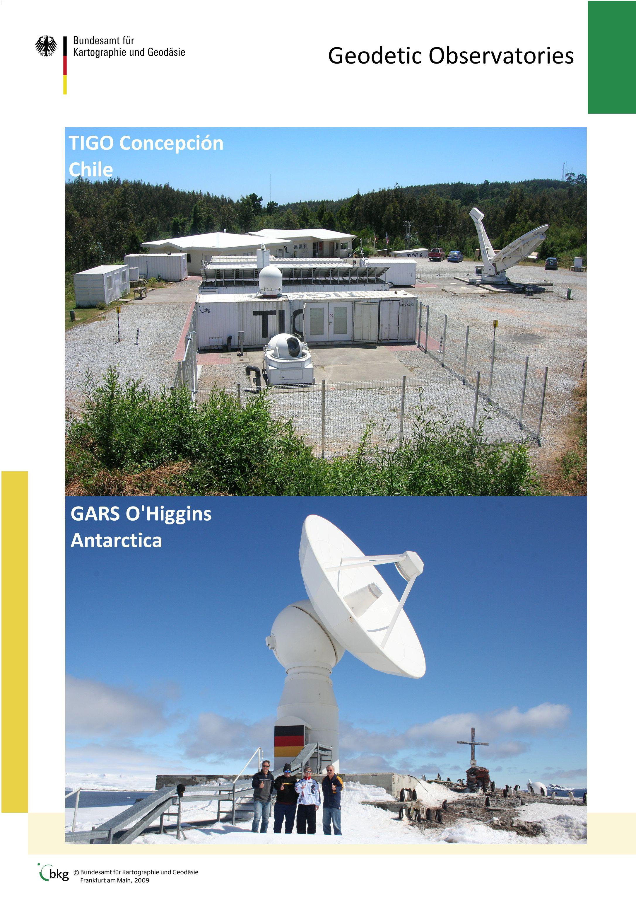 Geodetic Observatories TIGO Concepción Chile GARS O Higgins Antarctica
