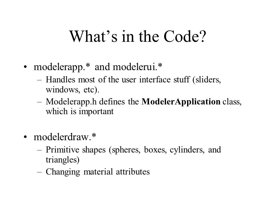 What's in the Code.