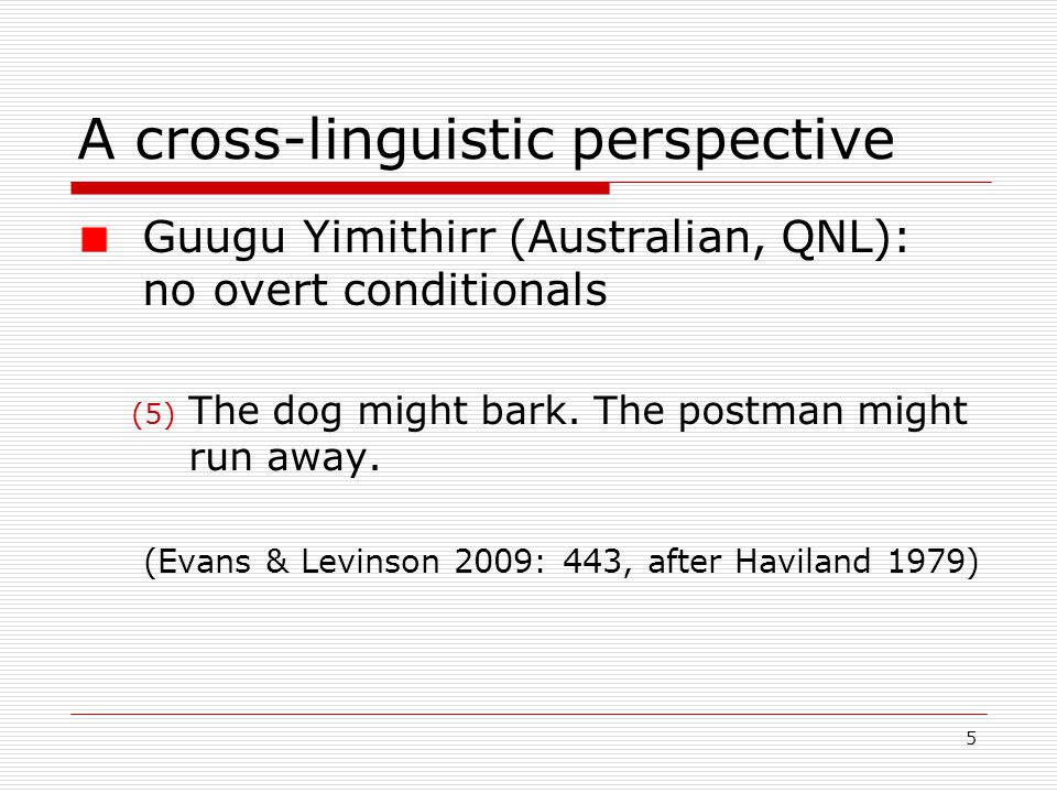 6 Outline Classifying conditionals Conditionals and speakers' intentions Recovering intended effects through linguistic cues Radical contextualism Representing conditional meaning in Interactive Semantics
