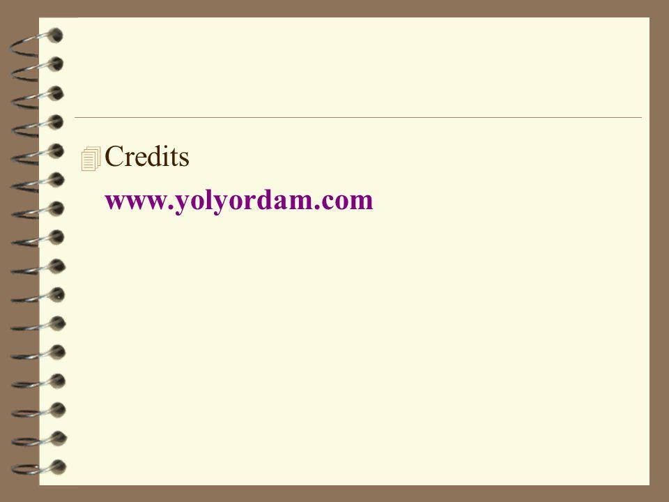 4 Credits www.yolyordam.com