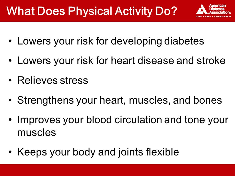 What Does Physical Activity Do.