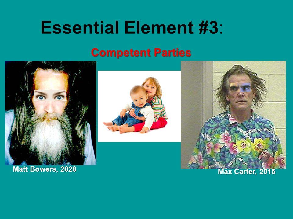 Essential Element #4: Legal Purpose