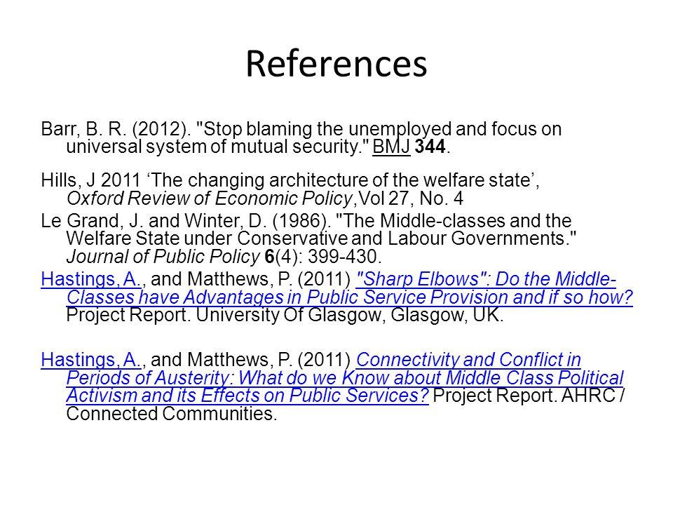 References Barr, B. R. (2012).