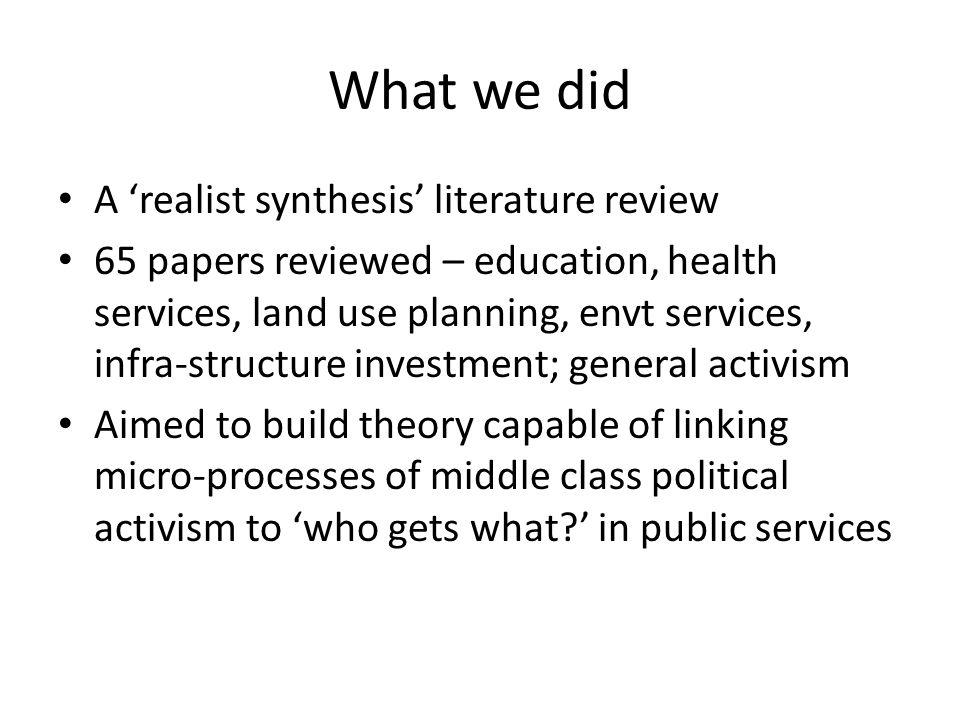 Do the middle classes have advantages in public services.