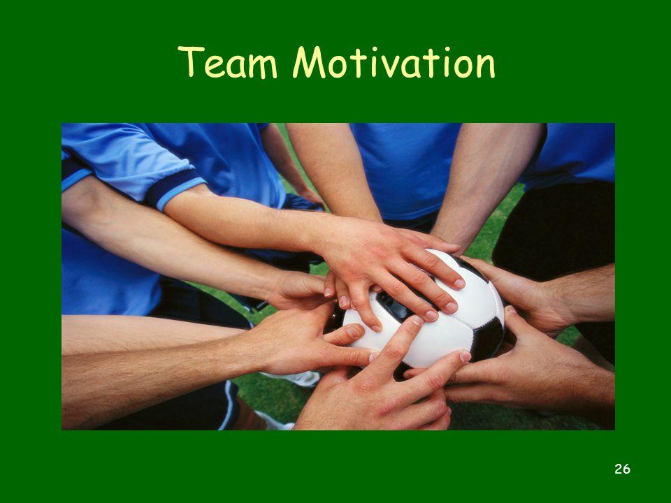 26 Team Motivation