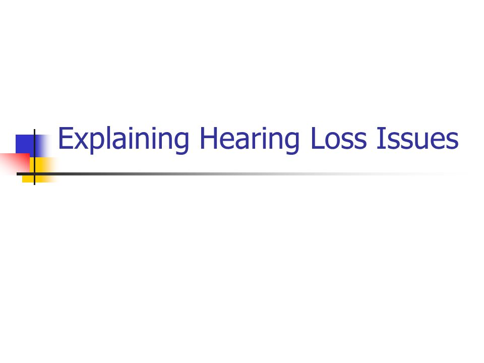 Hard of Hearing is Not Just Less Deaf