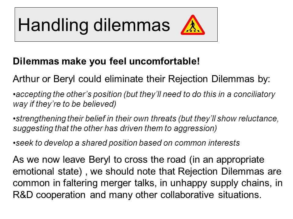Handling dilemmas Dilemmas make you feel uncomfortable.